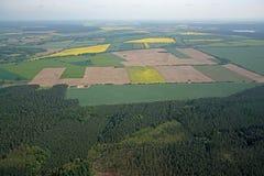 Fields and Meadows, Brandenburg, Germany Stock Image