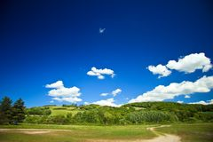 Fields and meadows of Denmark Royalty Free Stock Photo