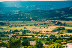 Fields and meadows near Bonnieux village in Stock Photography
