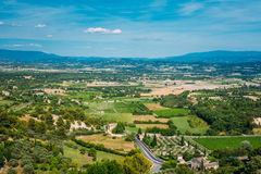Fields and meadows near Bonnieux village in Provence, France Stock Photo