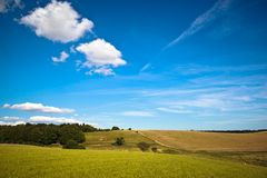 Fields and meadows of Scania, Sweden Stock Image