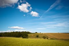 Fields and meadows of Scania, Sweden Royalty Free Stock Photos