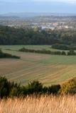 fields morgon Arkivbilder