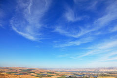 Fields from Mount Barkan stock images