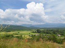 Fields in Nakhon Nayok Province. Of Thailand Royalty Free Stock Photos