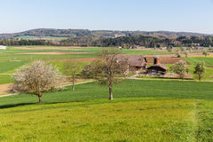 Fields near Fislisbach, Switzerland Stock Photo