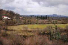 The fields near Martvili town in Samegrelo (Georgia) Stock Photo