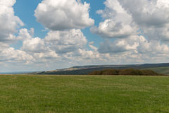 Fields near Seaford. HDR view of the fields near Seaford, Sussex, U.K.. Next to the seven sisters natural park Stock Images