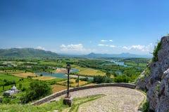 Fields near Shkoder, Albania. Seen from Rozafa Castle royalty free stock photos
