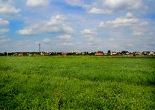 Fields on the outskirts of the city Losino-Petrovsky. Series: Nature of Russia. Landscapes and picturesque views of Russian nature. Can be used as postcards stock images