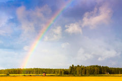Fields At The Rainbows End Royalty Free Stock Photo