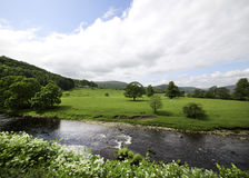 Fields River Hodder Stock Image