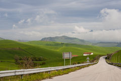 Fields on the road Stock Image