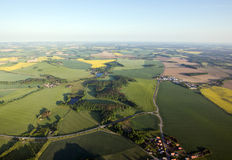 Fields and roads from above. In Saxony, Germany Stock Photo
