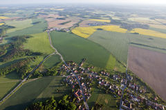 Fields and roads from above. In Saxony, Germany Stock Photos