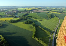 Fields and roads from above Royalty Free Stock Photo