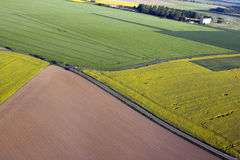 Fields and roads from above. In Saxony, Germany Royalty Free Stock Photography