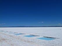 Fields of salt Royalty Free Stock Image