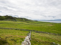The fields separated with stone walls, near Maghery, Donegal Stock Image