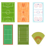 Fields Set Isometric View. Vector. Fields Set for Sport Games Isometric View. Vector illustration Royalty Free Stock Photography