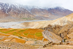 Fields in Spiti Valley Stock Photo