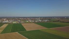 Fields in the suburbs of Augsburg in Germany stock video footage