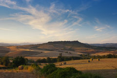 Fields of tuscan maremma near saturnia italy Royalty Free Stock Photo