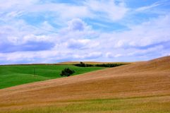 Beautiful natural landscape in Tuscany, Italy Stock Photos
