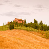 Fields in Tuscany. A red Fields in Tuscany stock photos