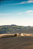 Fields in Tuscany. A red Fields in Tuscany royalty free stock photo