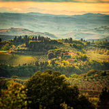 Fields in Tuscany Royalty Free Stock Photos