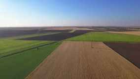 Fields with various types of agriculture stock footage