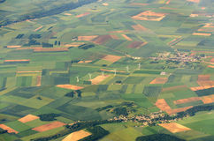 Fields viewed from plane Royalty Free Stock Image