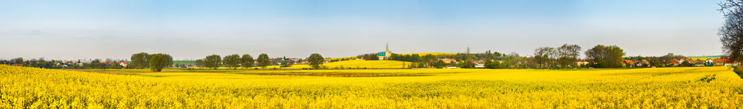 Fields and village Royalty Free Stock Photos