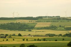 The fields and windmills. Stock Photos