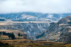 Fields of Zumbahua in Ecuadorian Altiplano Stock Photos