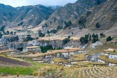 Fields of Zumbahua in Ecuadorian Altiplano Royalty Free Stock Photography