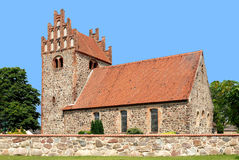 Fieldstone church in Brandenburg Royalty Free Stock Photo