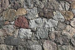 Fieldstone-pared de un granero Foto de archivo