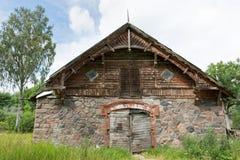 Fieldstone stable. Old fieldstone stable of Laatre manor in Estonia Royalty Free Stock Photos