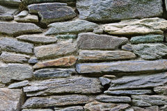 Fieldstone wall. With differently sized and coloured stones Royalty Free Stock Image