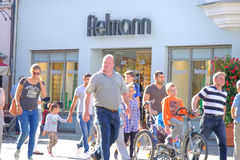 Fielmann-Kunden Stockfoto