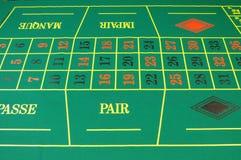 Fieltro del verde del casino fotografía de archivo