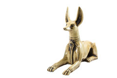 Fience egypt anubis. Isolated on white background. This item is my collection, no restrict in copy or use Royalty Free Stock Photo