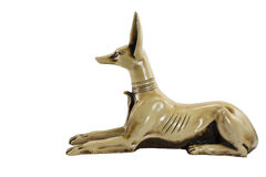 Fience egypt anubis. Isolated on white background. This item is my collection, no restrict in copy or use Royalty Free Stock Images