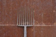 Fieno-forcella Fotografia Stock