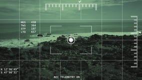 fientligt terrängbegrepp för flyg- spårning 4k arkivfilmer