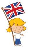 Fier d'être fille britannique Image stock