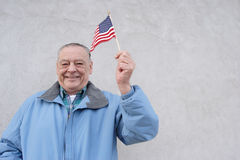 Fier d'être américain. Aînés Photos stock