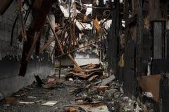 Fier Damaged Warehouse Fotos de archivo libres de regalías